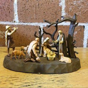 Vintage Italian nativity scene